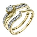 9ct Gold 1/2 Carat Diamond Solitaire Bridal Set - Product number 1281178