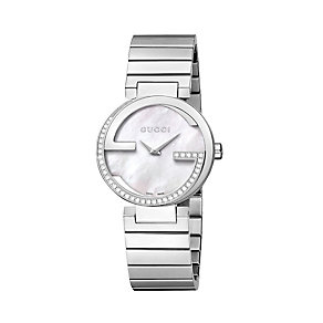 Gucci Interlocking ladies' steel diamond bracelet watch - Product number 1281291
