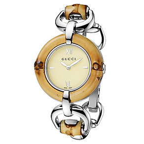 Gucci Bamboo ladies' stainless steel bracelet watch - Product number 1281577
