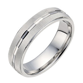 Silver 6mm Patterned Ring - Product number 1281860