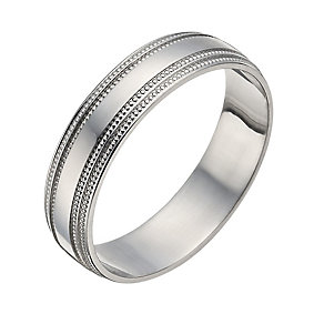Palladium 5mm Milgrain Ring - Product number 1282670