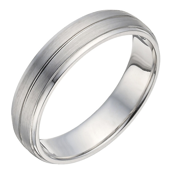 Silver 5mm Matt & Polished Ring - Product number 1283715