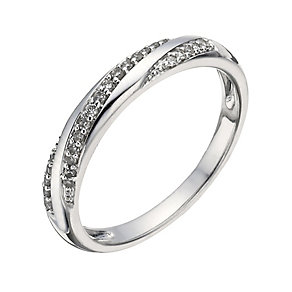 9ct White Gold 10 Point Diamond Ring - Product number 1288261