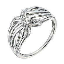 Kiss Collection Silver And Diamond Kiss Ring - Product number 1288679