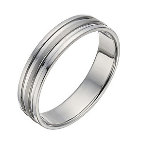 Palladium Matt & Polished Ring - Product number 1288806