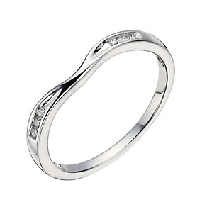 18ct White Gold Diamond Shaped Ring - Product number 1289721