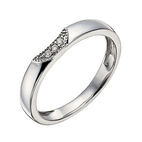 9ct White Gold Diamond Shaped Ring - Product number 1289861