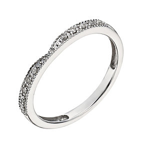 9ct White Gold Diamond Shaped Ring - Product number 1290037