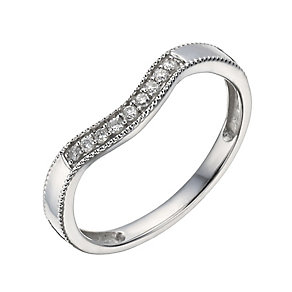 9ct White Gold Diamond Shaped Ring - Product number 1290177