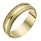 9ct Yellow Gold Matt & Polished Ring - Product number 1291238