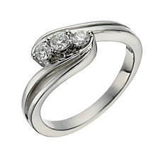 Palladium 1/4 Carat Diamond True Love Trilogy Ring - Product number 1293133