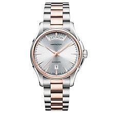 Hamilton Jazzmaster men's two colour bracelet watch - Product number 1295527