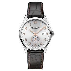 Hamilton Jazzmaster men's brown leather strap watch - Product number 1295705