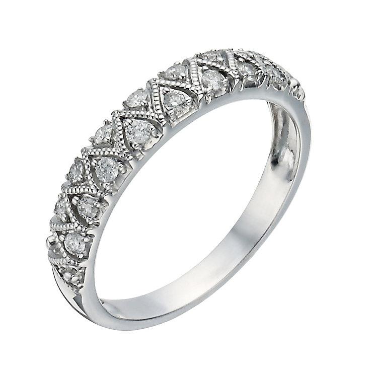 9ct white gold 1 5 carat zig zag eternity ring h