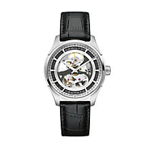 Hamilton Jazzmaster men's black leather strap watch - Product number 1295888