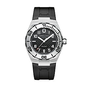 Hamilton Khaki men's automatic black rubber strap watch - Product number 1295934