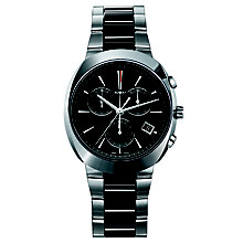 Rado men's stainless steel & black ceramic bracelet watch - Product number 1296884