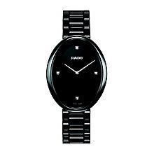 Rado Esenza ladies' oval dial black ceramic bracelet watch - Product number 1296957