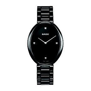 Rado Esenza ladies' oval dial black ceramic bracelet watch - Product number 1296957