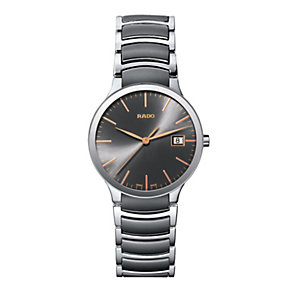 Rado Centrix men's steel & grey ceramic bracelet watch - Product number 1296981