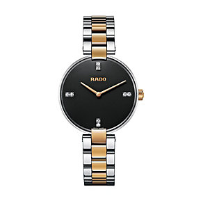 Rado ladies' two tone black bracelet watch - Product number 1297147