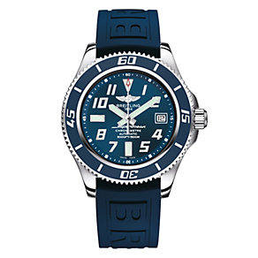 Breitling Superocean 42 men's blue rubber strap watch - Product number 1297406