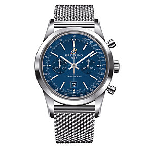 Breitling Transocean 38 men's stainless steel bracelet watch - Product number 1297414