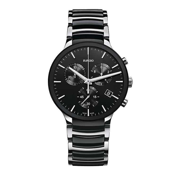 Rado Centrix men's steel & black ceramic bracelet watch - Product number 1297473
