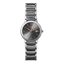 Rado Centrix ladies' steel & grey ceramic bracelet watch - Product number 1297481