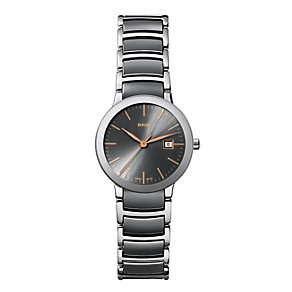 Rado Centrix ladies' steel & grey ceramic bracelet watch - Product number 1297481