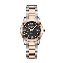 Longines Conquest ladies' two colour bracelet watch - Product number 1297627