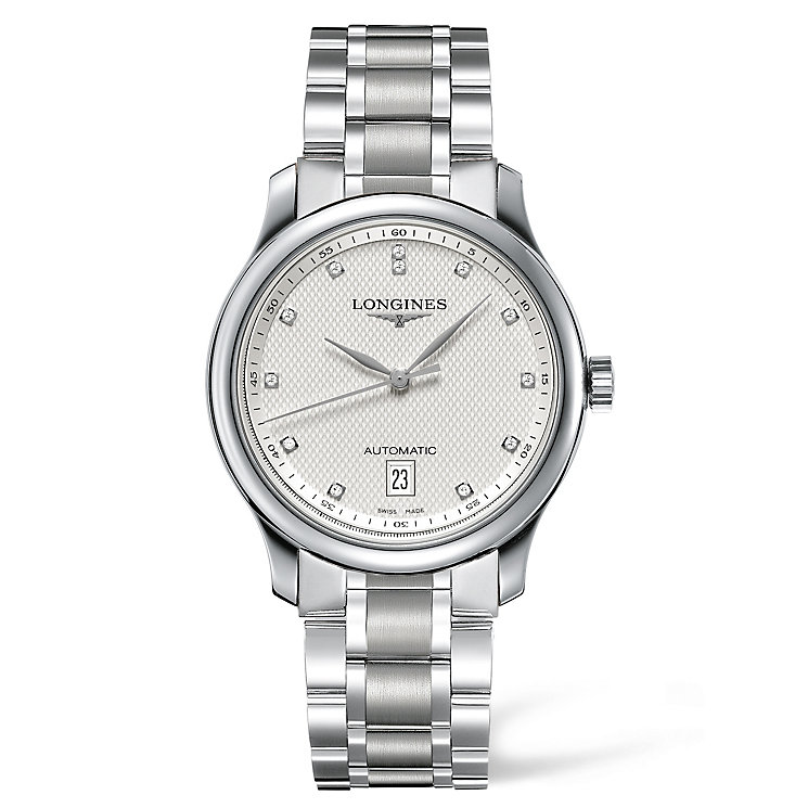 Longines men's diamond stainless steel bracelet watch - Product number 1297643