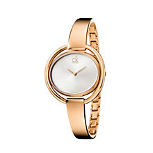 Calvin Klein Impetuous ladies' rose gold-plated bangle watch - Product number 1297708