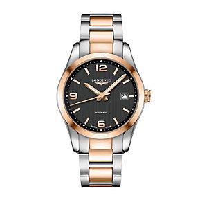 Longines Conquest men's two colour bracelet watch - Product number 1297740