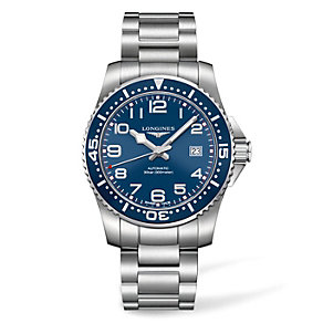 Longines men's blue dial stainless steel bracelet watch - Product number 1297937