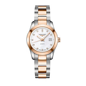 Longines ladies' two colour diamond bracelet watch - Product number 1298135
