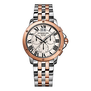 Raymond Weil men's two colour chronograph bracelet watch - Product number 1298208
