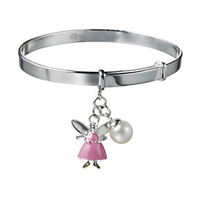 Molly Brown Aurora Sterling Silver Pink Fairy Bangle - Product number 1298496