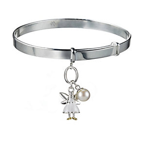 Molly Brown Aurora Sterling Silver White Fairy Bangle - Product number 1298518