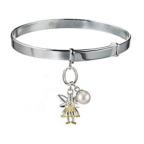 Molly Brown Aurora Sterling Silver & Gold Tone Fairy Bangle - Product number 1298526