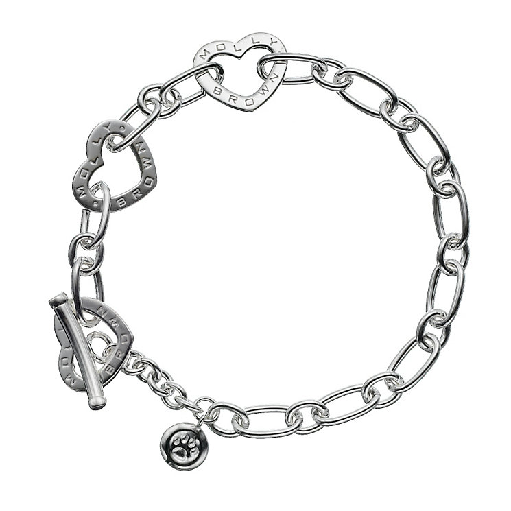 "Molly Brown Sterling Silver 6.75"" Heart Link Bracelet - Product number 1298550"