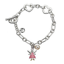 Molly Brown Aurora Sterling Silver Pink Fairy Heart Bracelet - Product number 1298569