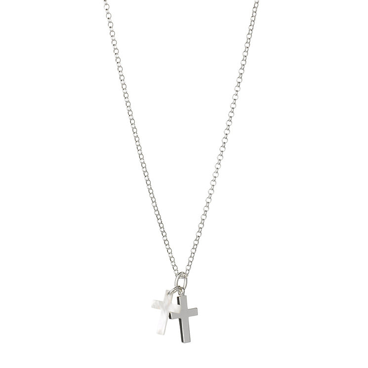 Molly Brown Sterling Silver Mother Of Pearl Cross Pendant - Product number 1298607