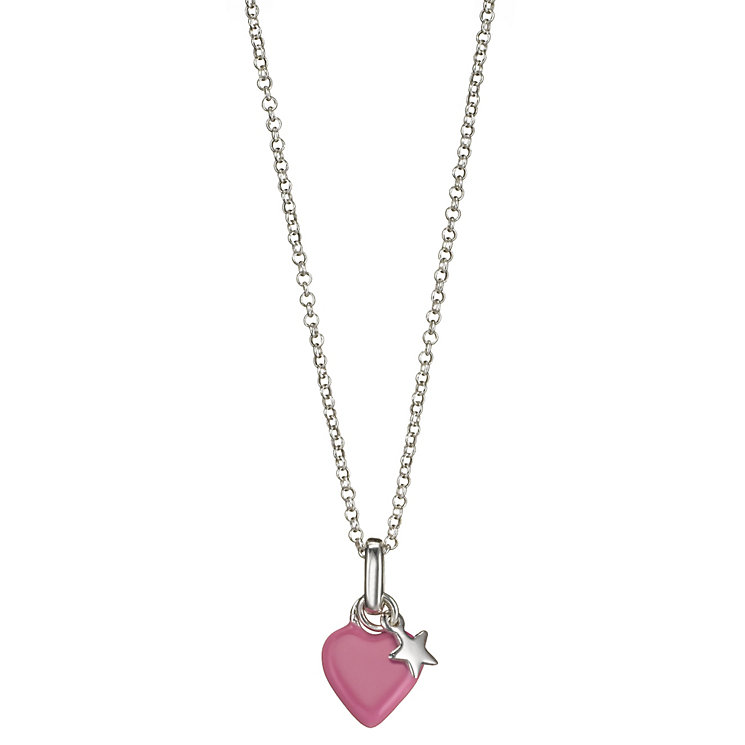 Molly Brown Sterling Silver Pink Heart & Star Pendant - Product number 1298704