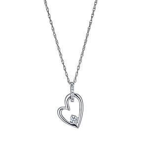 The Forever Diamond 1/10 Carat Heart Pendant - Product number 1299476
