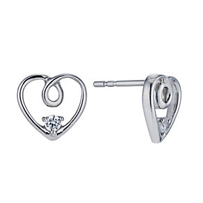 The Forever Diamond Silver 1/10 Carat Diamond Earrings - Product number 1299484