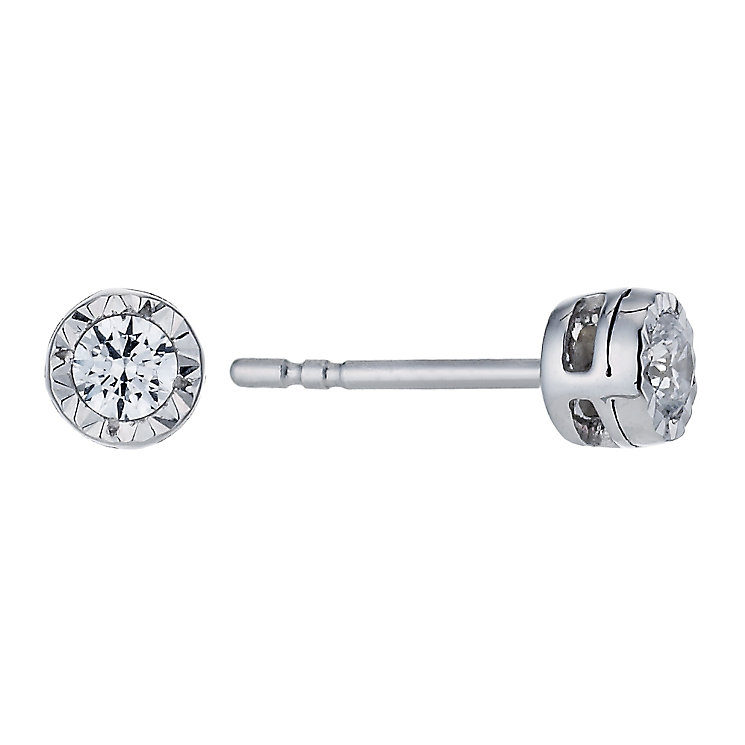 9ct White Gold 0.17 Carat Forever Diamond Earrings - Product number 1299514
