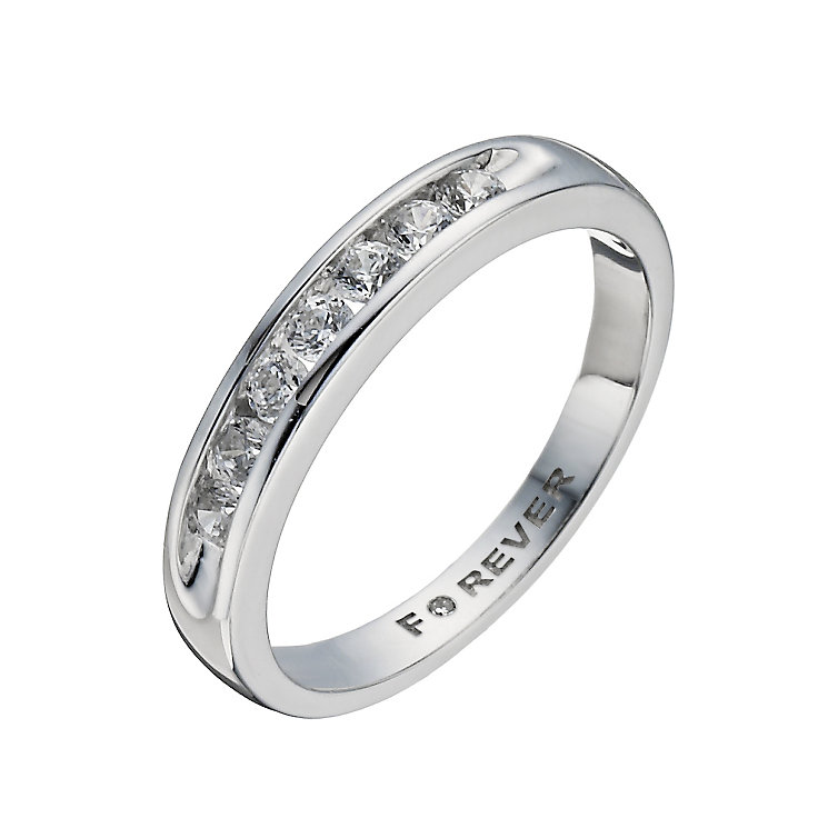The Forever Diamond 18ct White Gold 35 Point Diamond Ring - Product number 1299581