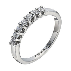 The Forever Diamond 18ct White Gold 35 Point Diamond Ring - Product number 1299727