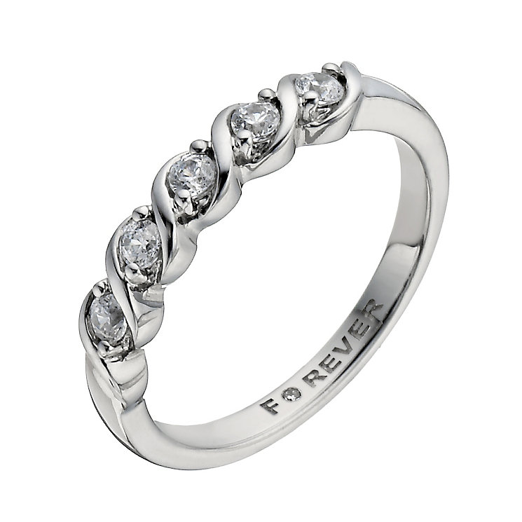 Palladium 1/4 carat total Forever Diamond ring - Product number 1299859